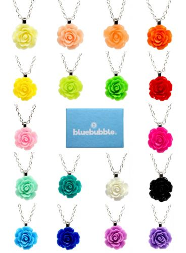 Bluebubble ENGLISH ROSE 22mm Carved Rose Necklace With FREE Gift Box